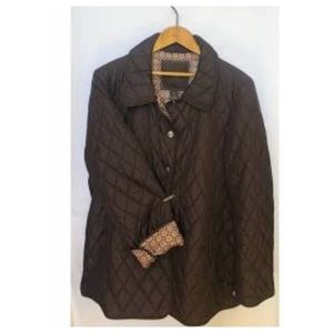 Coach Quilted Women's XL Button Down Coat